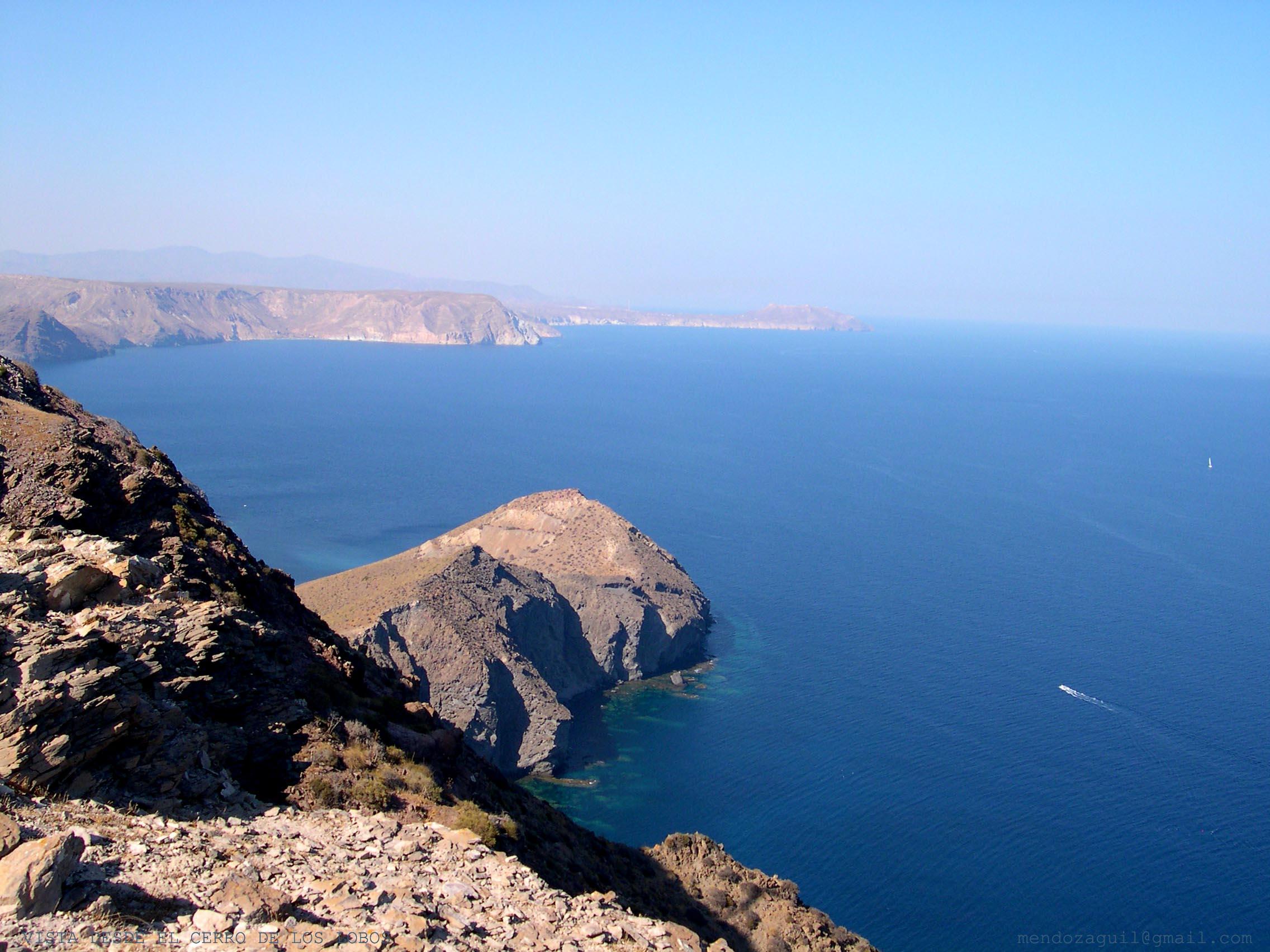 Foto playa Cala de la Polacra. Vista desde cerro los Lobos