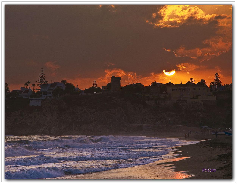 Foto playa Rincón de la Victoria. ATARDECER EN RINCON DE LA VICTORIA 06