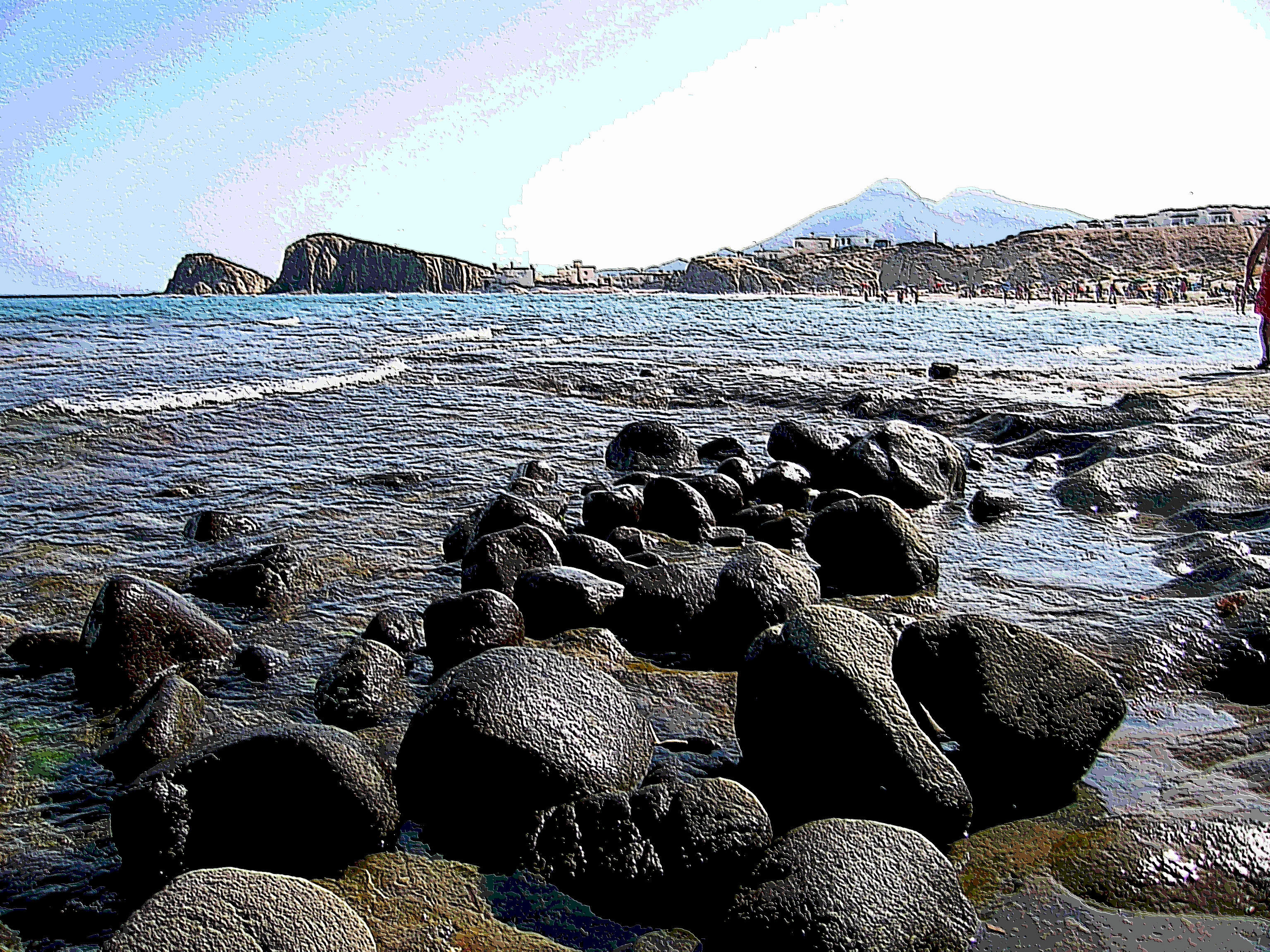Foto playa Peñón Blanco / Isleta del Moro. playa las negras