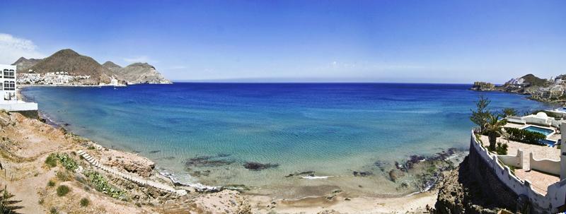 Foto playa San José. San José. Cabo de Gata. Panorámica.