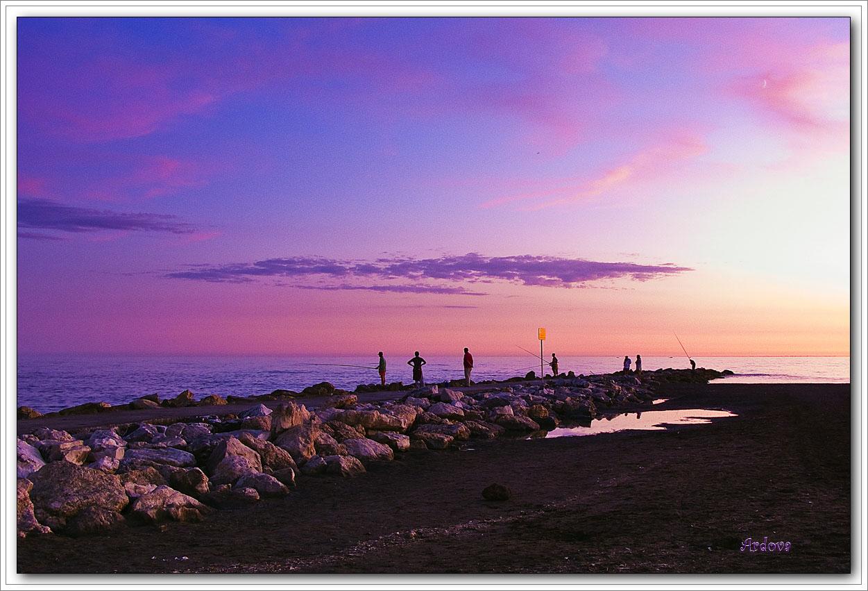 Foto playa Cala del Moral. ATARDECER DESDE LA CALA DEL MORAL 02