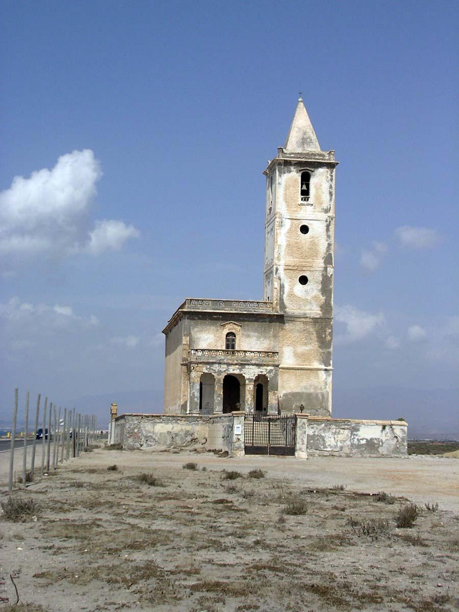 Foto playa La Almadraba de Monteleva. Iglesia de Salinas - Almeria, Spain