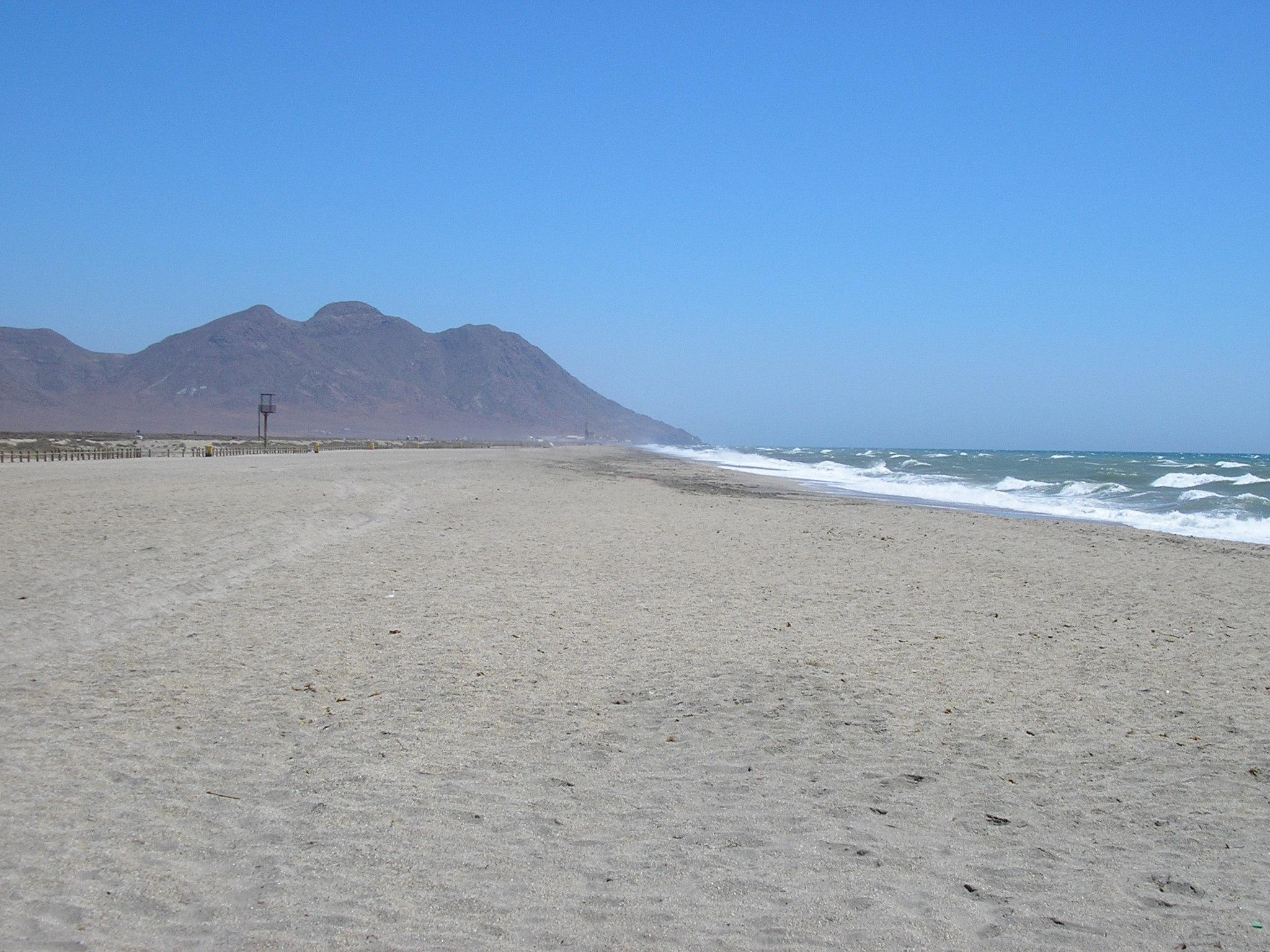 Foto playa Las Salinas de Cabo de Gata. playa de cabo de gata