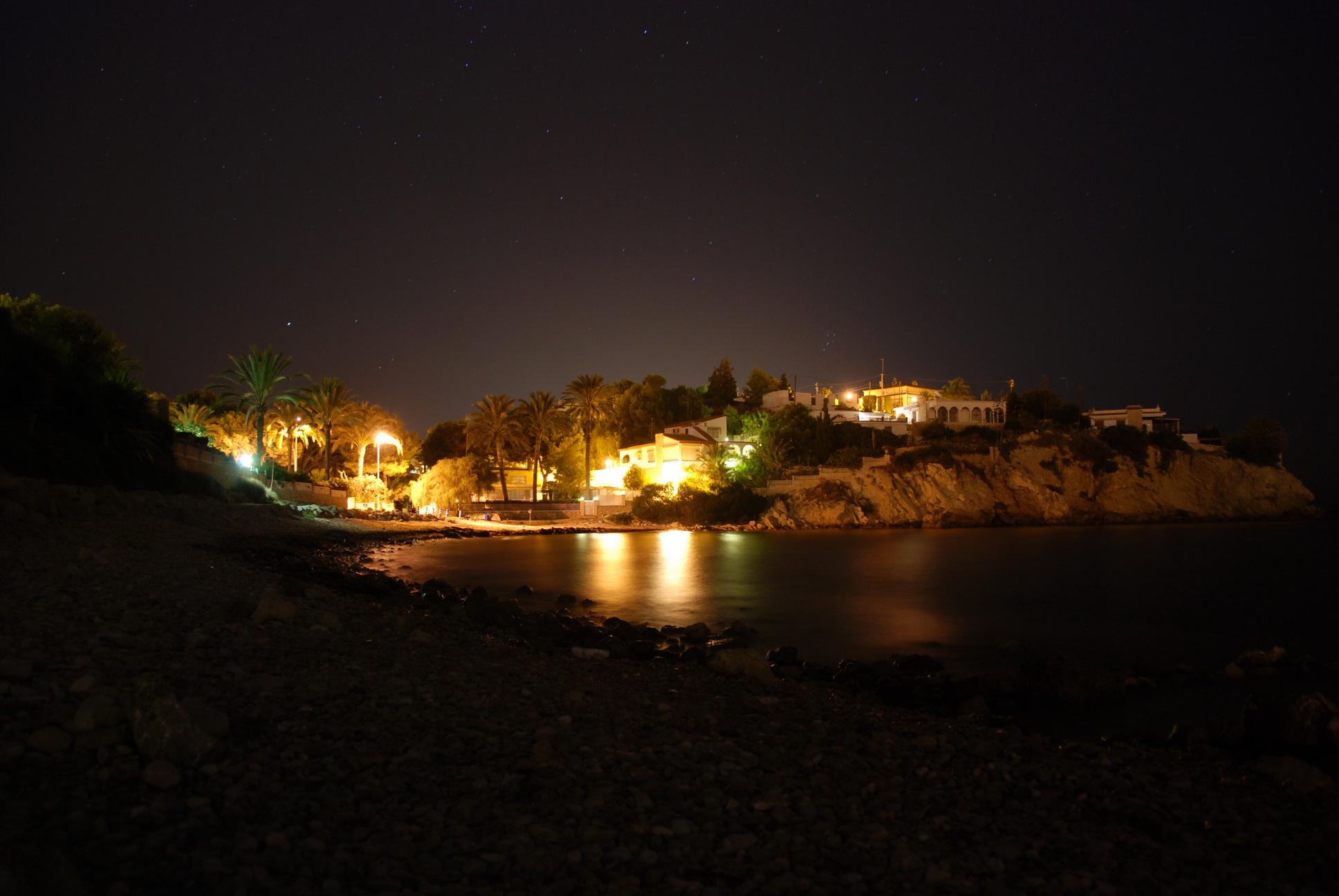Foto playa Fábrica del Cemento. Nachtaufnahme