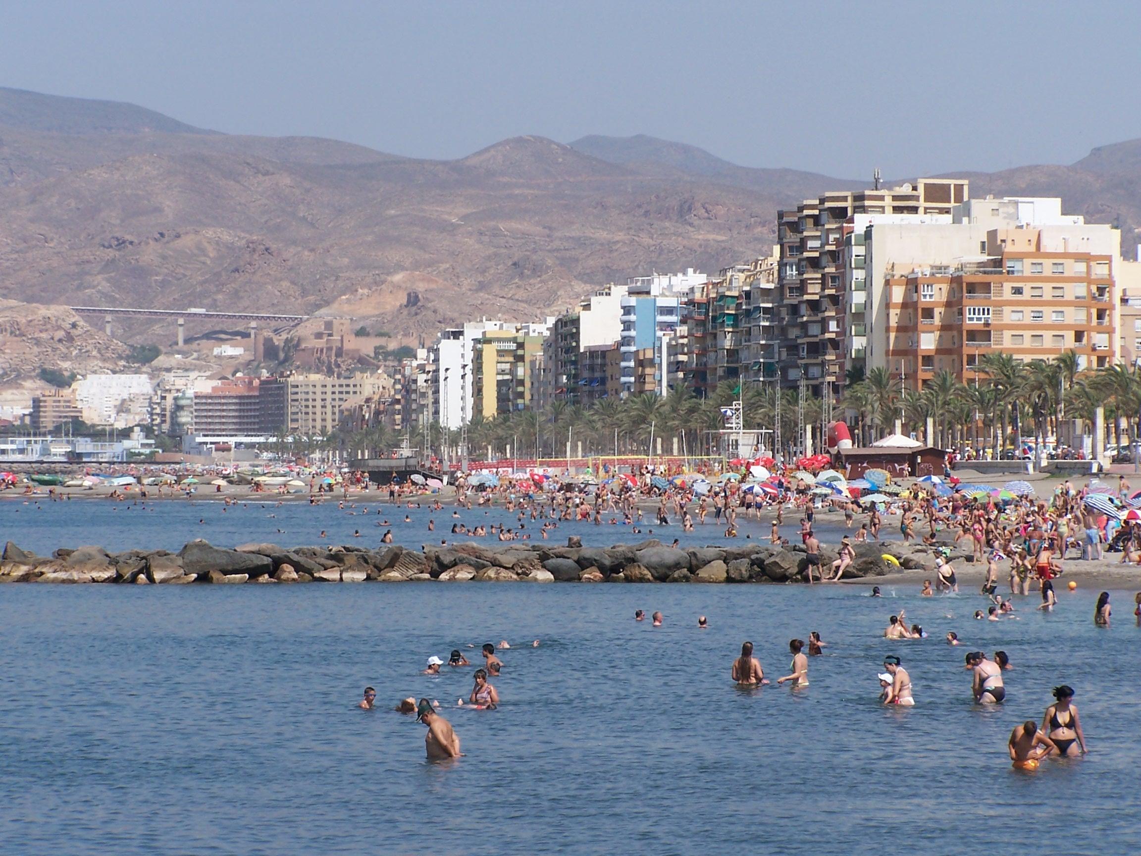 Foto playa Nueva Almería. Playas de Almería (15-7-2006)