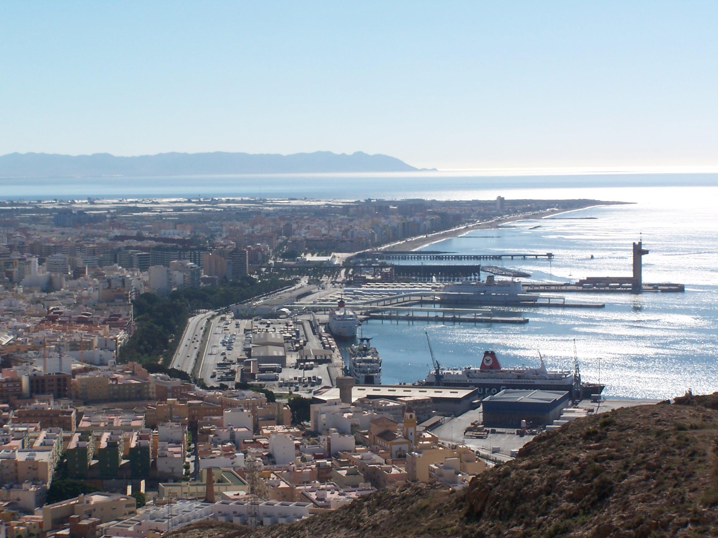 Foto playa Las Olas. Vista de Almeria