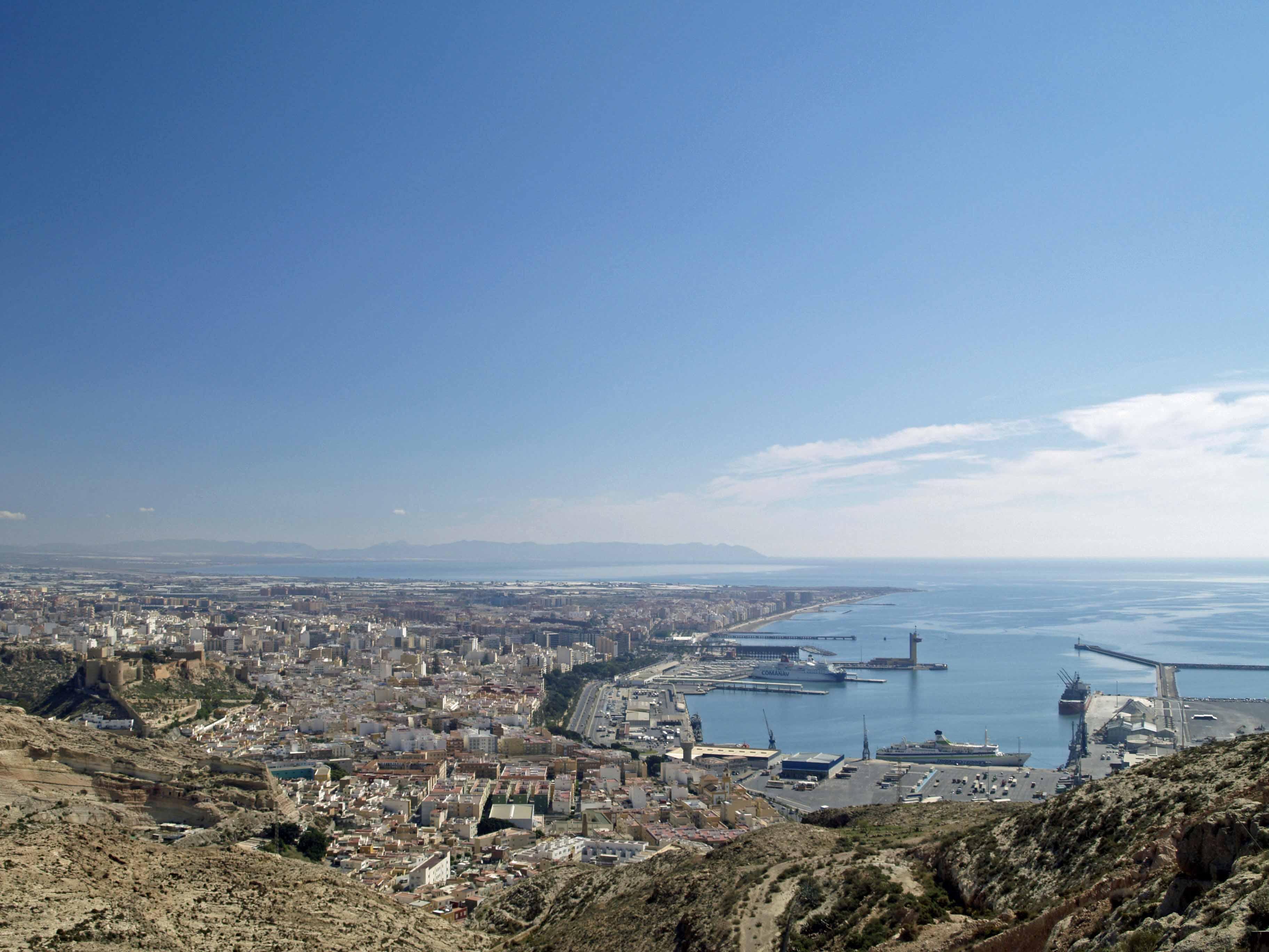 Foto playa La Garrofa / Camping de La Garrofa. Almería