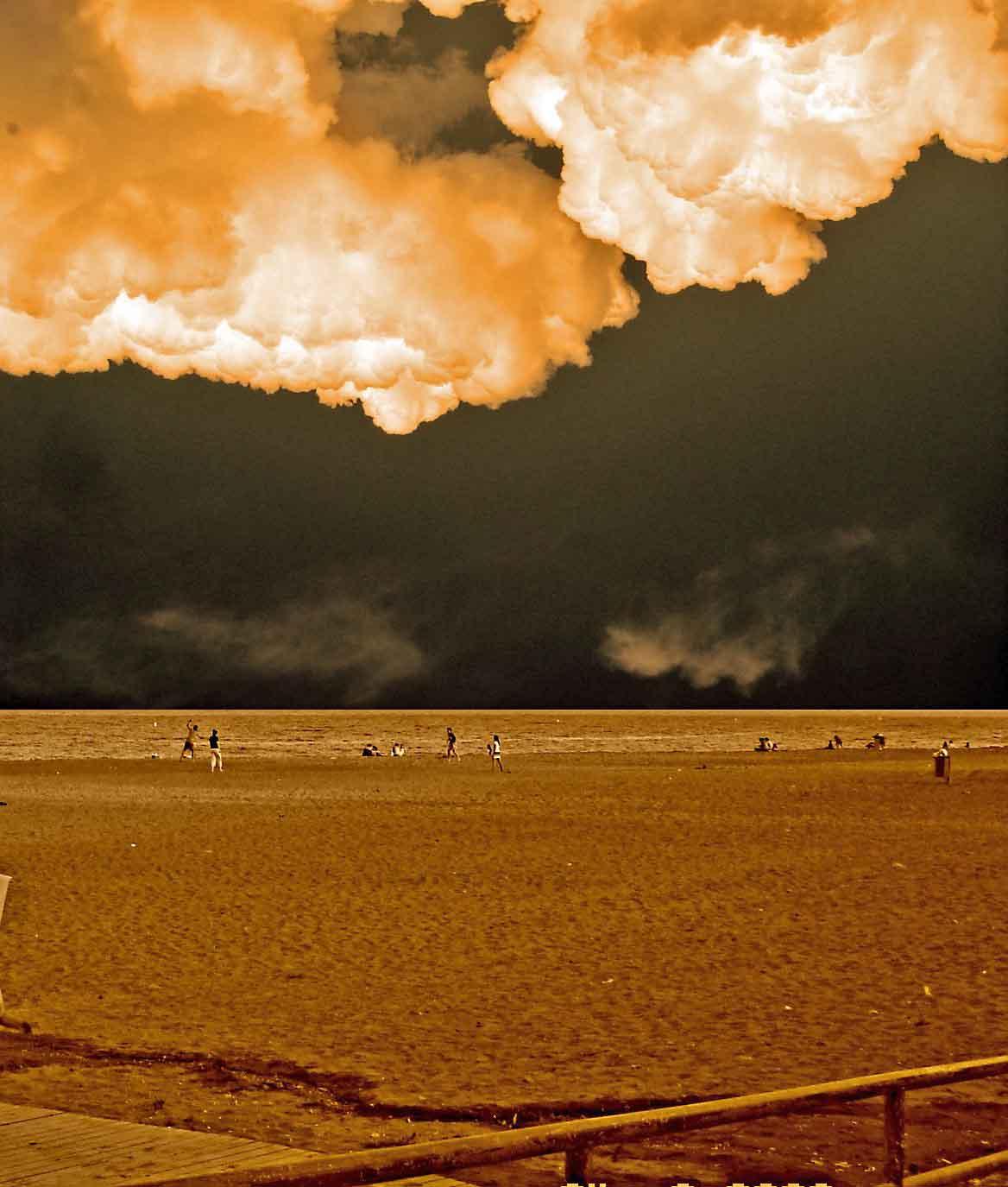Foto playa El Candado. Tormenta