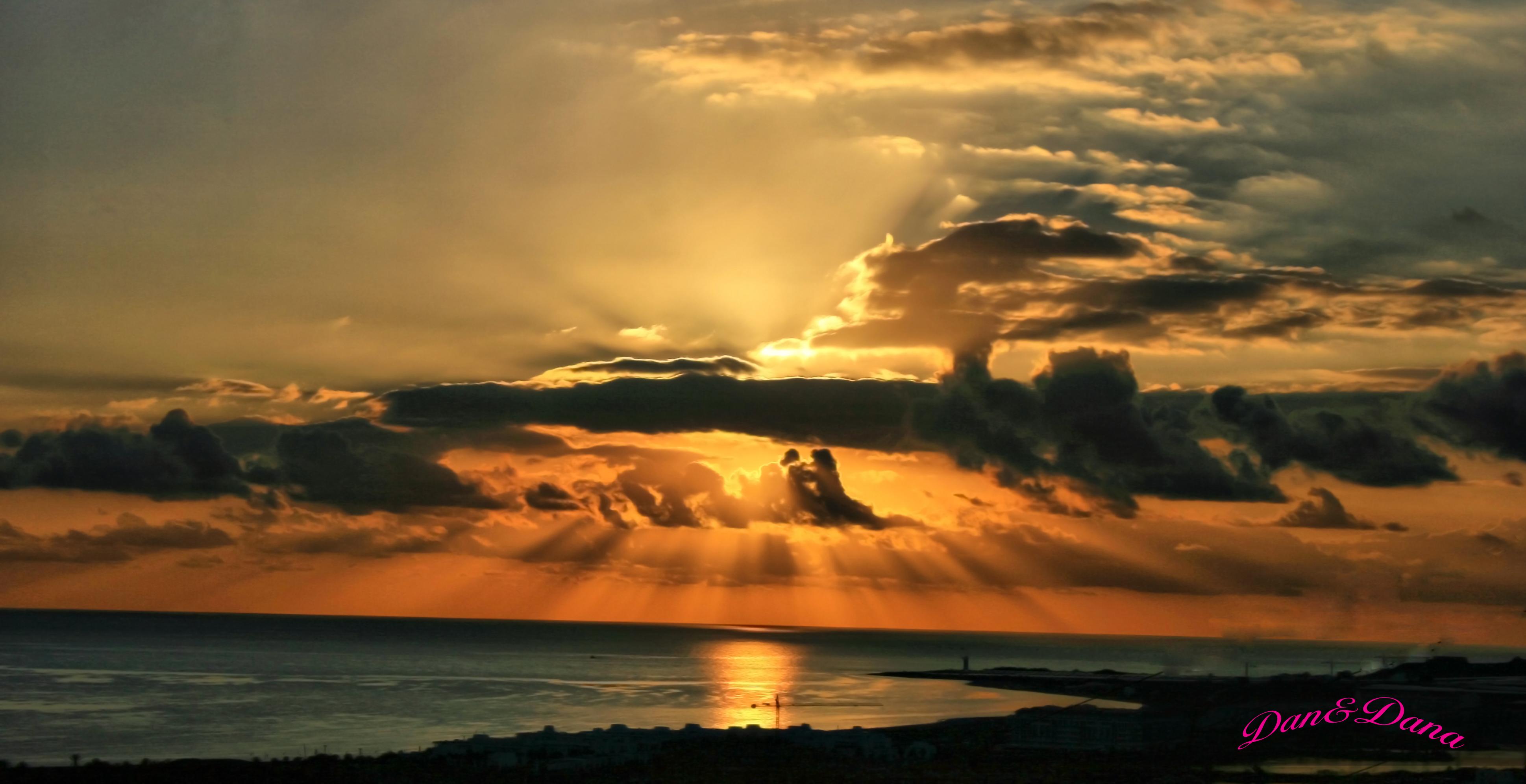 Foto playa Los Baños - Punta de Baños / Guardias Viejas / Punta de Culo de Perro. puesta del sol