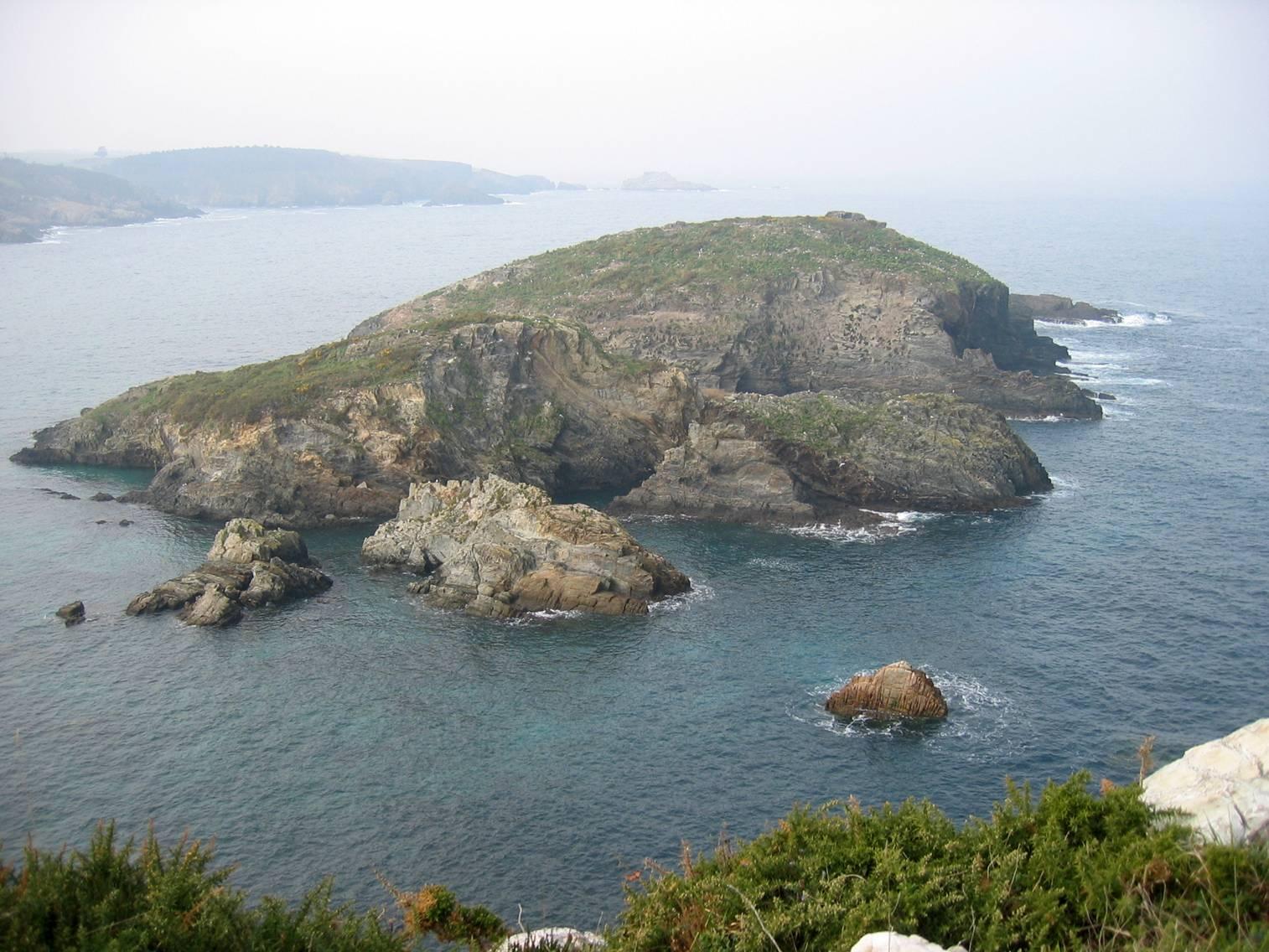 Foto playa Castelo / Castello. Islas dos Bois. Porcía (El Franco)