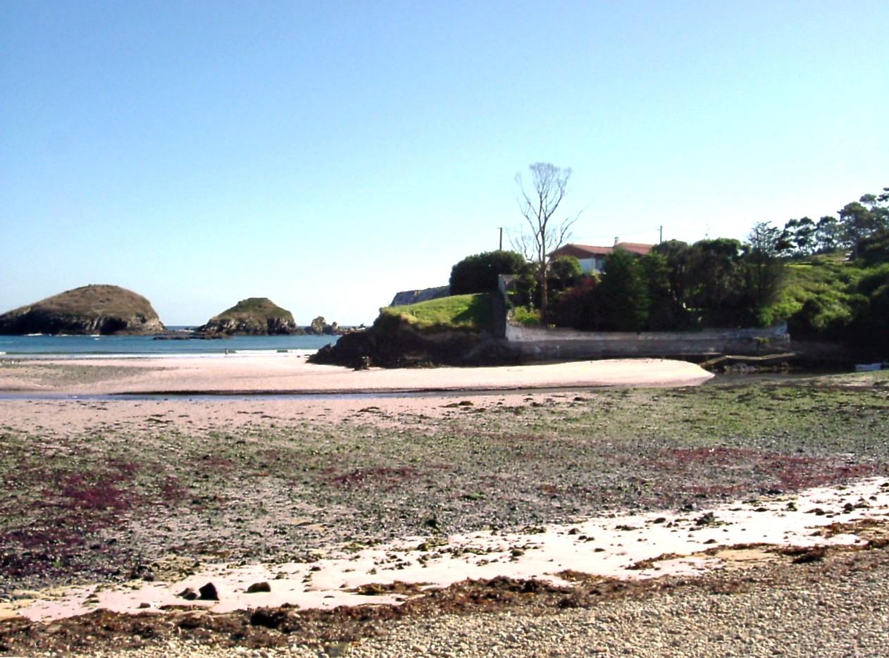 Foto playa Castelo / Castello. Playa de Porcìa in low tide - August 2004