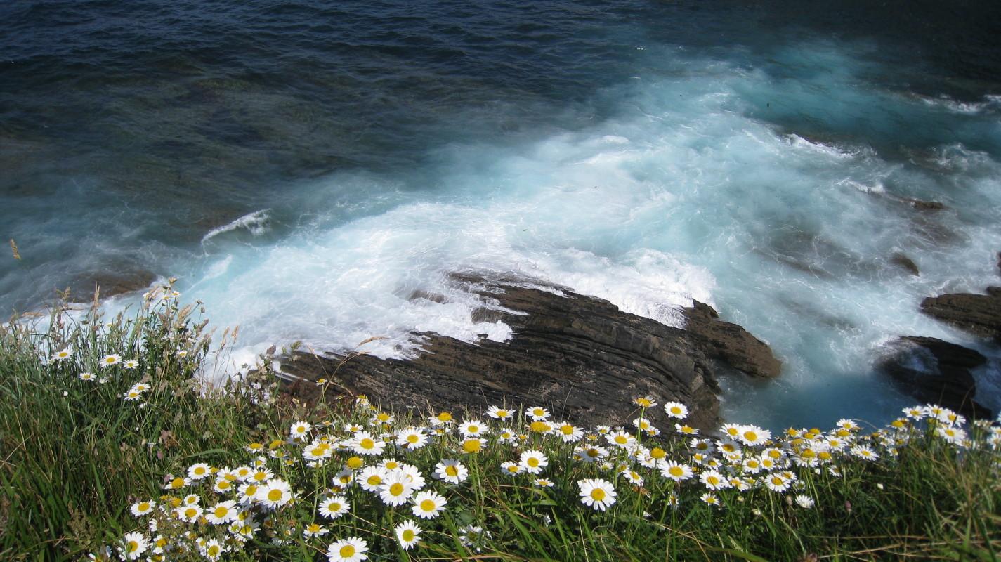 Foto playa Fabal. Navia, Asturias