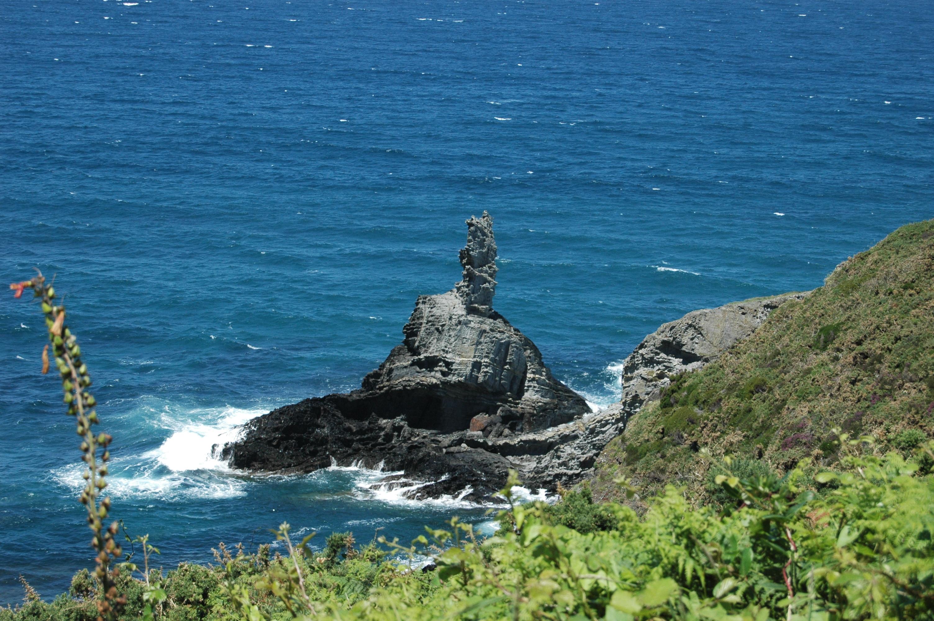 Foto playa Fabal. Roca original