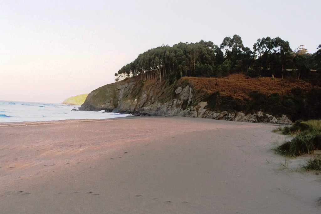Foto playa Sabugo. Atardecer de otoño
