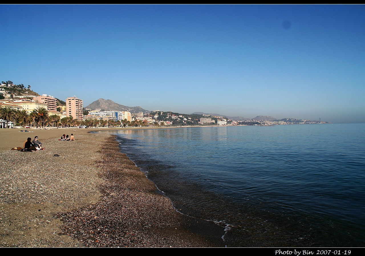 Foto playa La Malagueta. Malaga