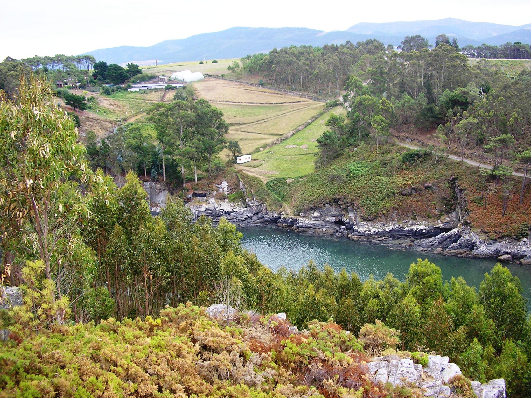 Foto playa Tourán. Cala Astur. Asturias