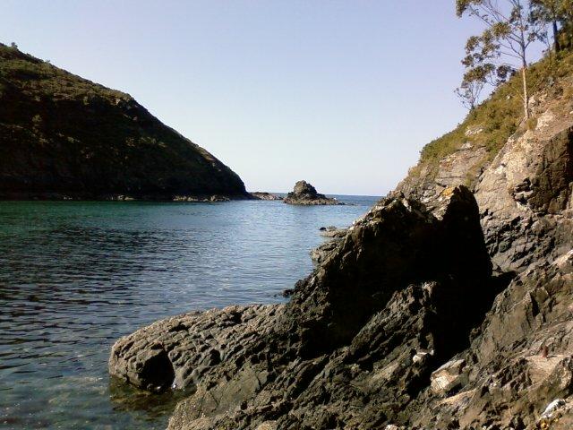 Foto playa Tourán. Tourán desde la barquera