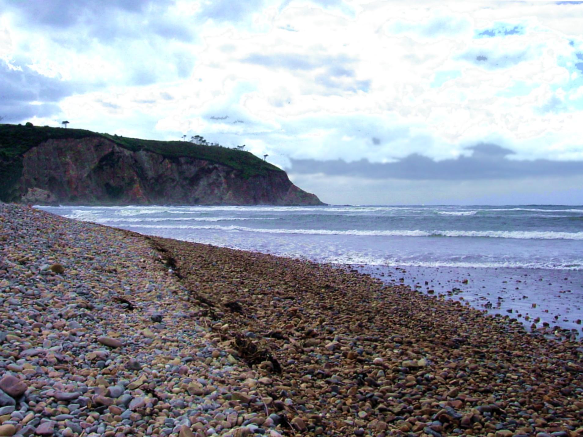 Foto playa Las Arreas. Canero, playa de Cueva - August 2004