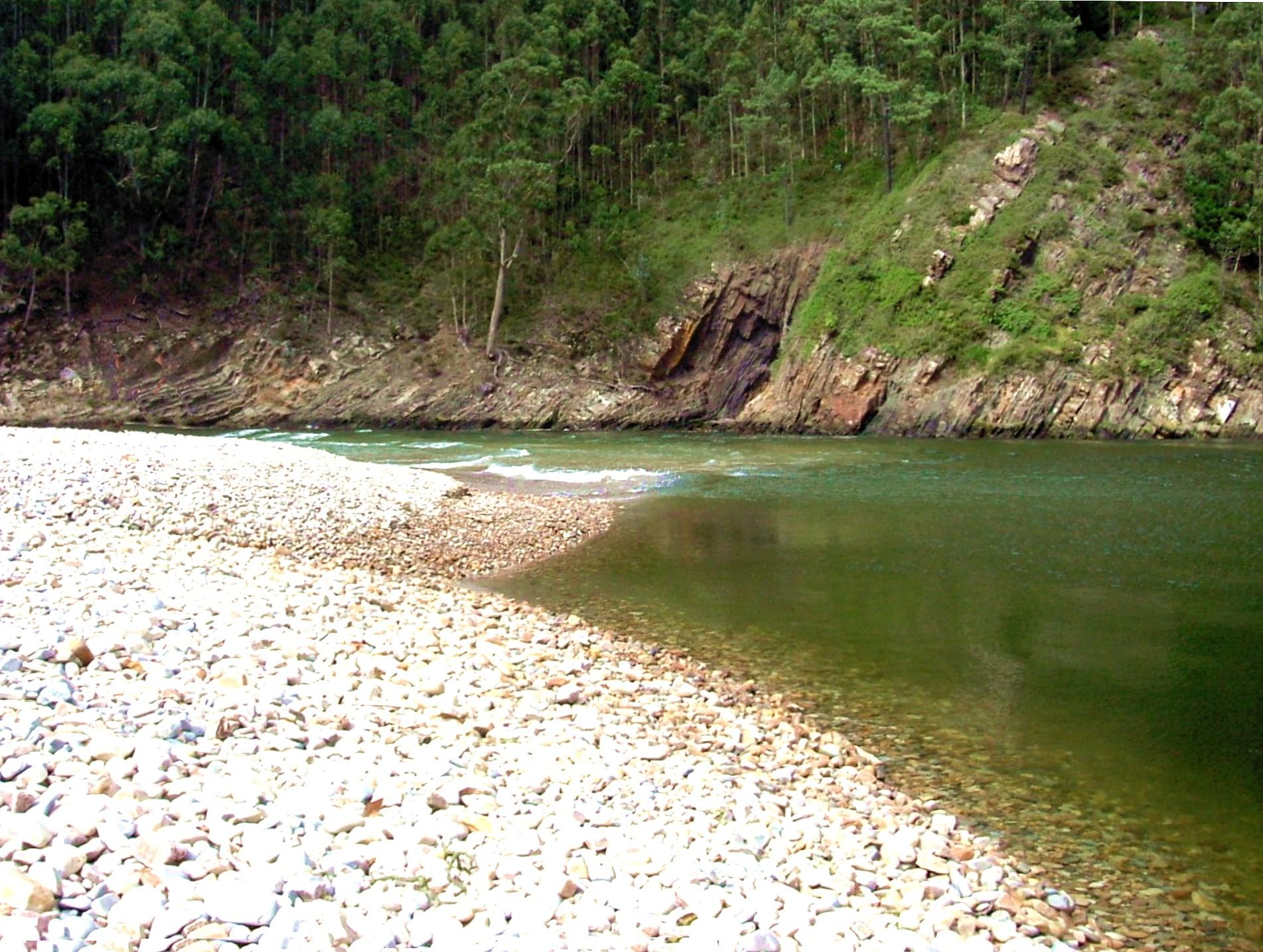 Foto playa La Herbosa. Canero, playa de Cueva - August 2004