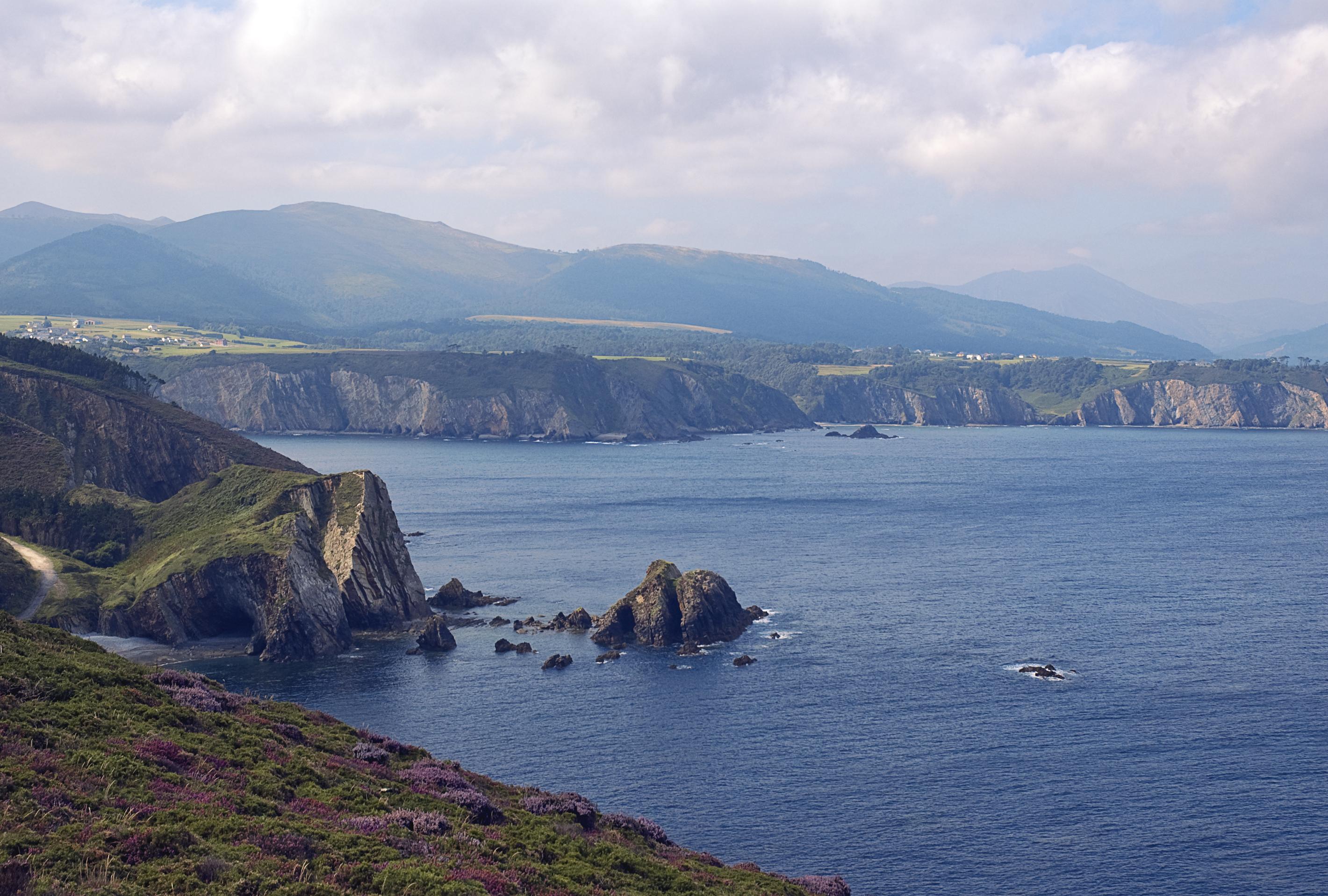 Foto playa Bozo. Vistas desde el Cabo Busto