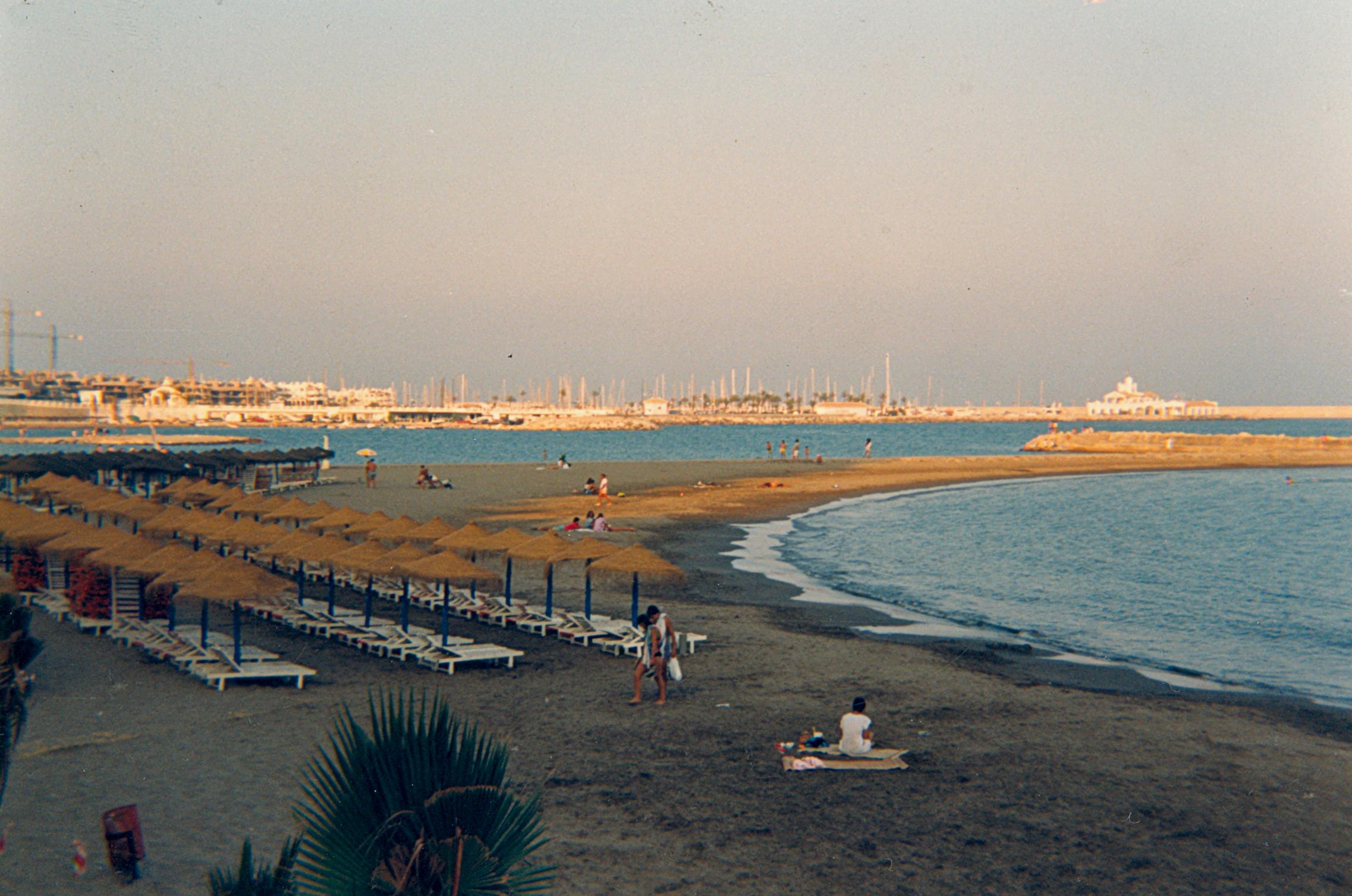 Foto playa Santa Ana. Playa de Benalmádena (1988)