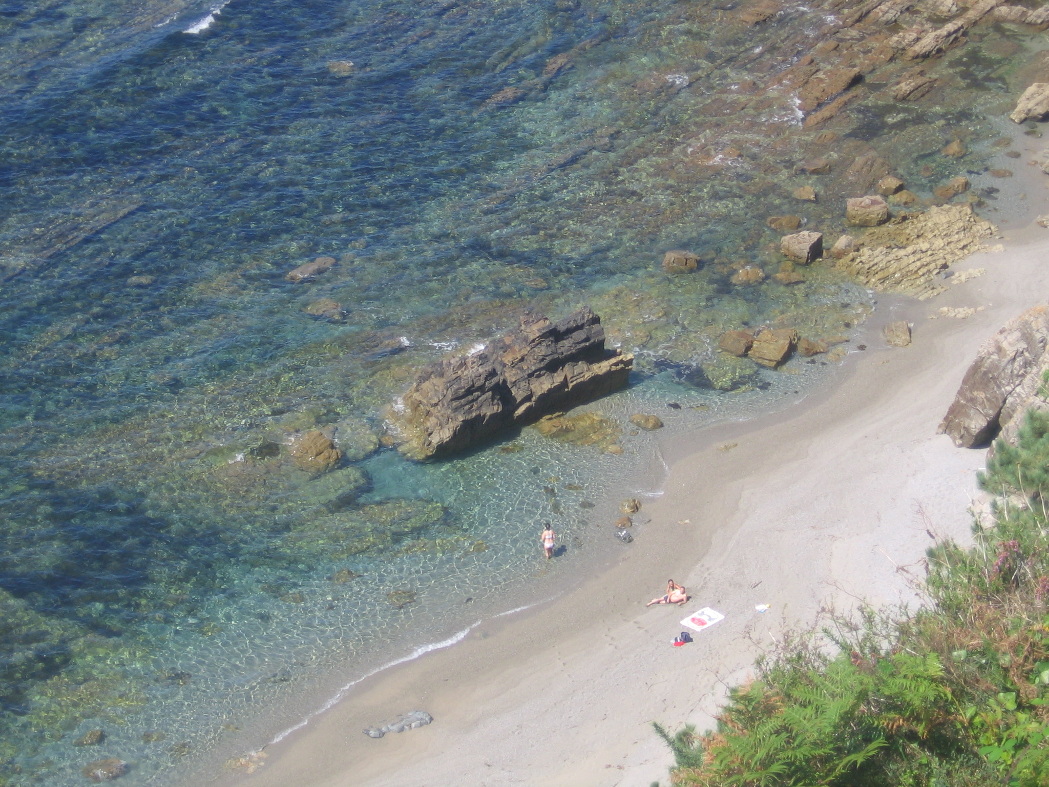 Foto playa Perceberos / La Estaca. El Peñón Queimao