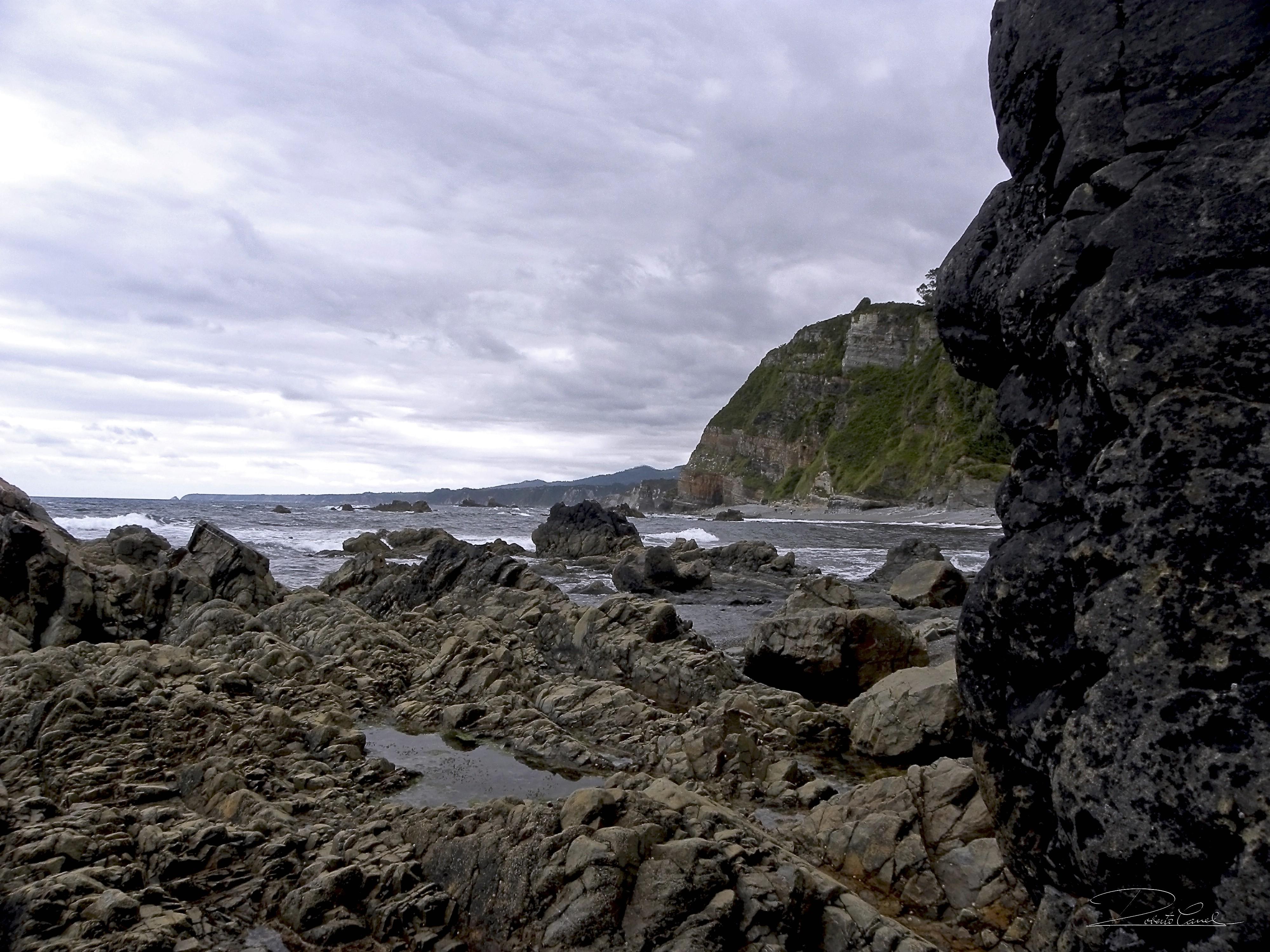 Foto playa Campiecho. Vista desde Campiechos (Villamoros)