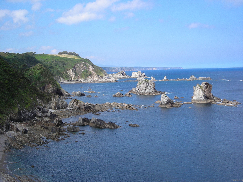 Foto playa El Riego. costa asturiana en Castañeras