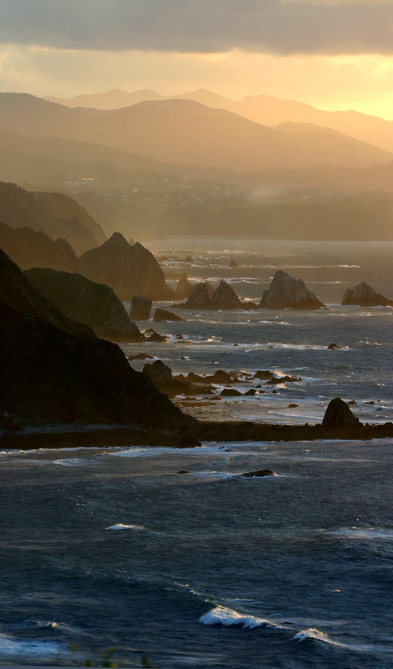 Foto playa Portiella / Muriello. Mar de escollos al oeste de cabo Vidio