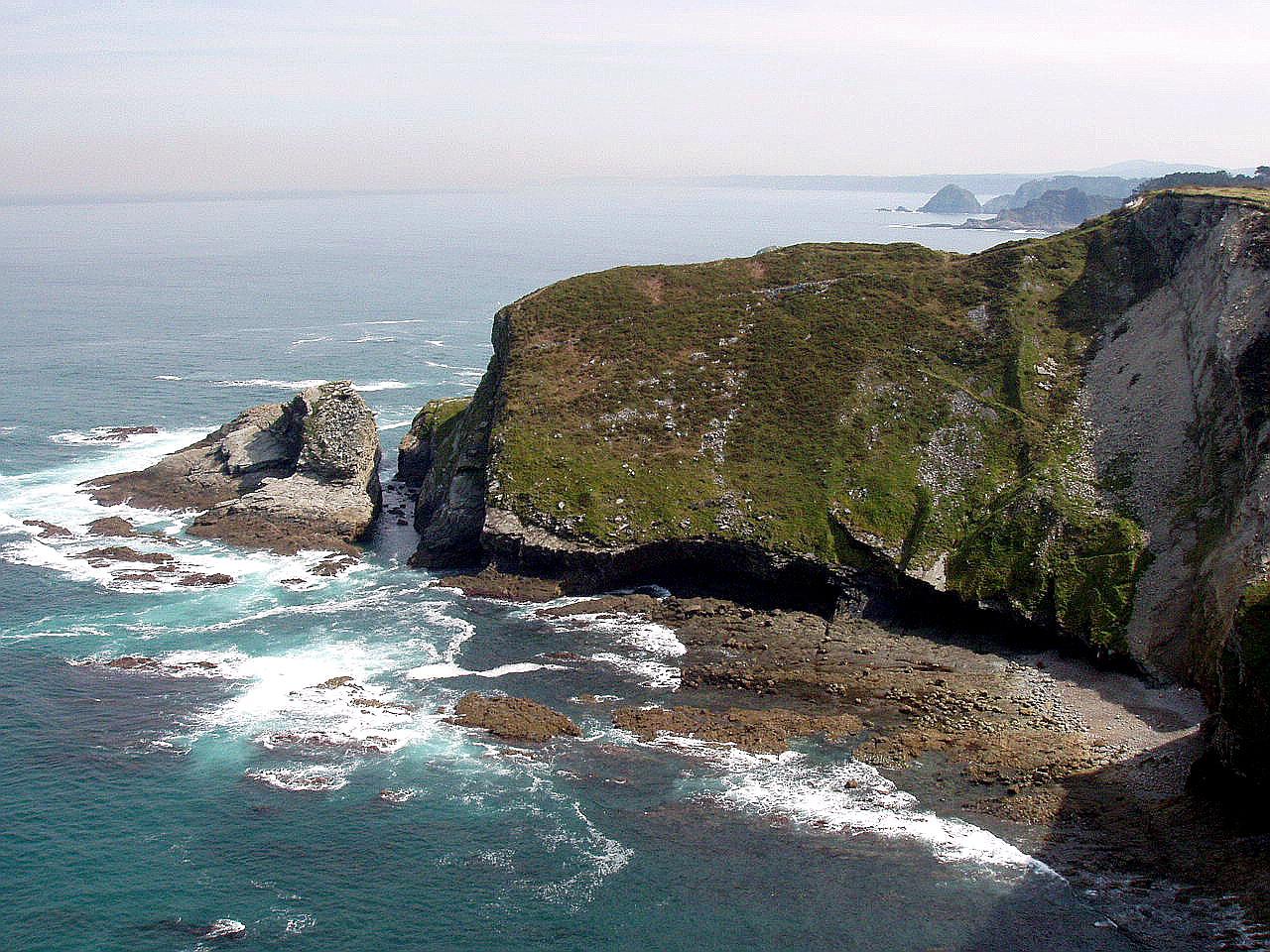 Foto playa Puerto Chico. Cabo Vidio, Cudillero, Asturias