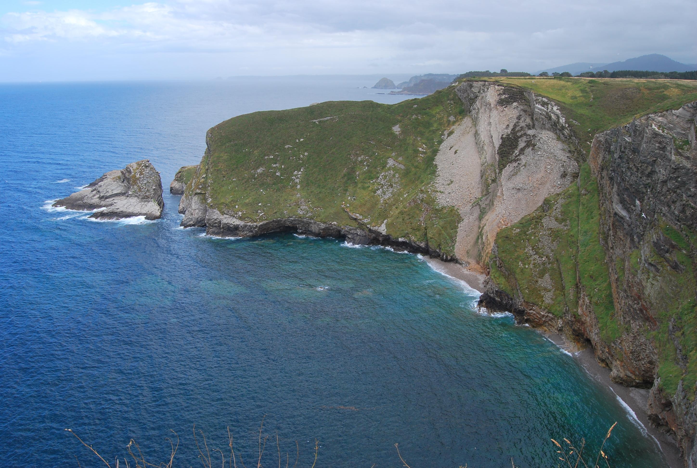 Foto playa El Castrillón. Cabo de Vidio vista parcial