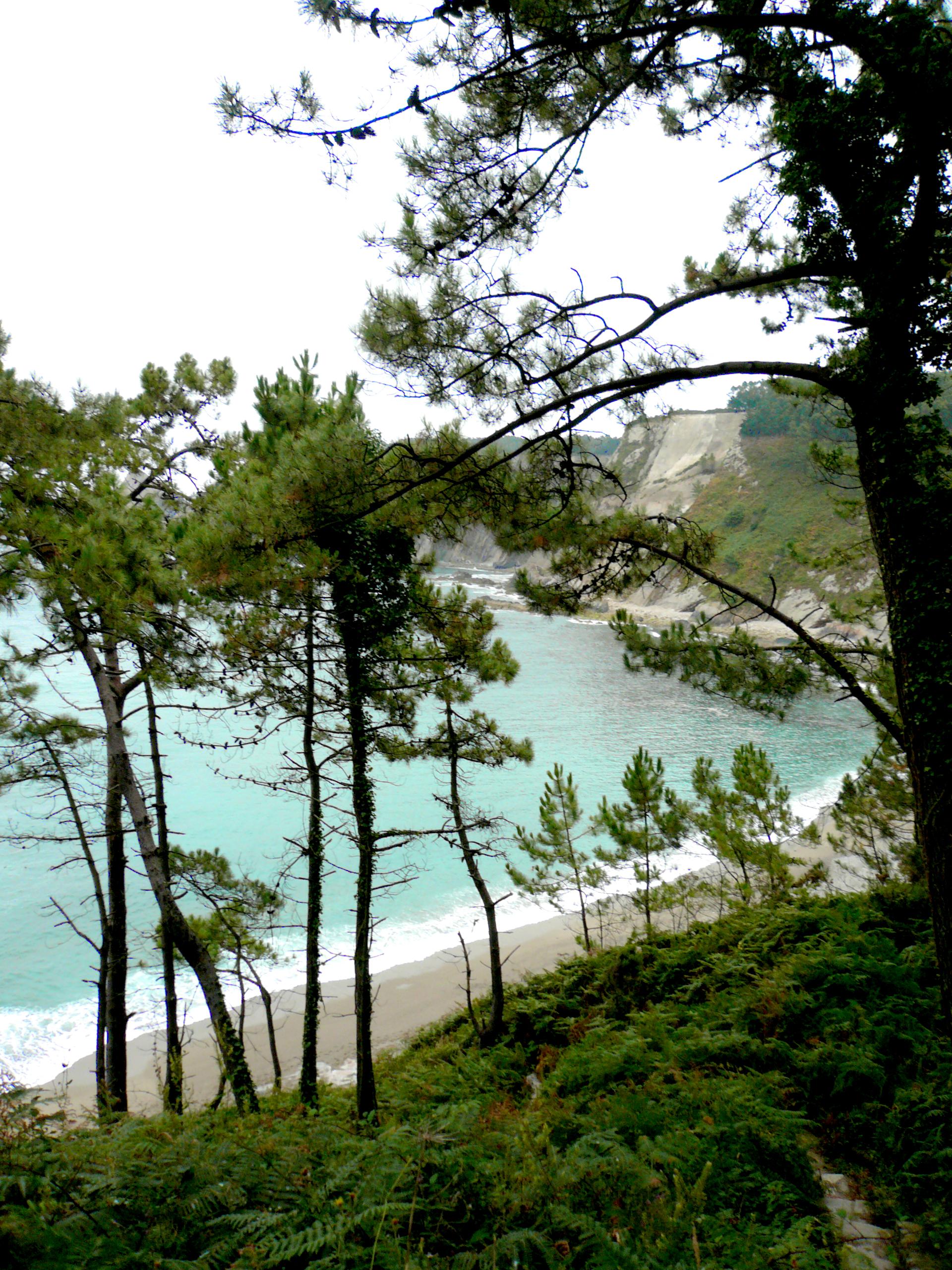 Foto playa Oleiros. En el camino de Oleiros
