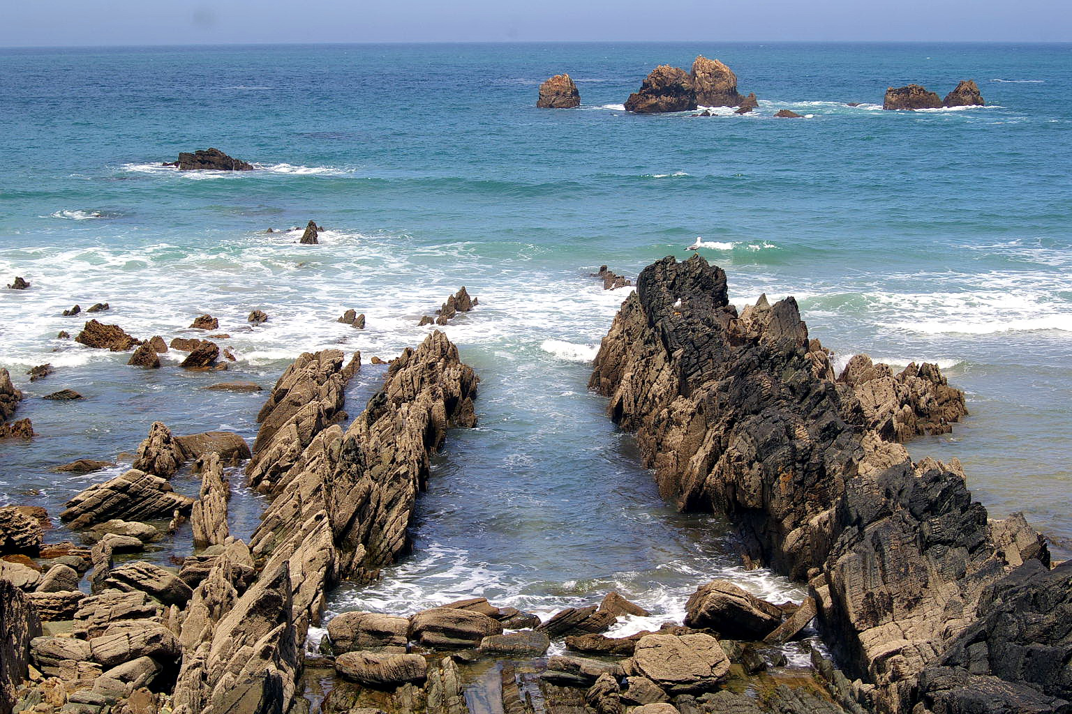 Foto playa Xilo / Veneiro. Playa de Aguilar, Muros de Nalón, Asturias