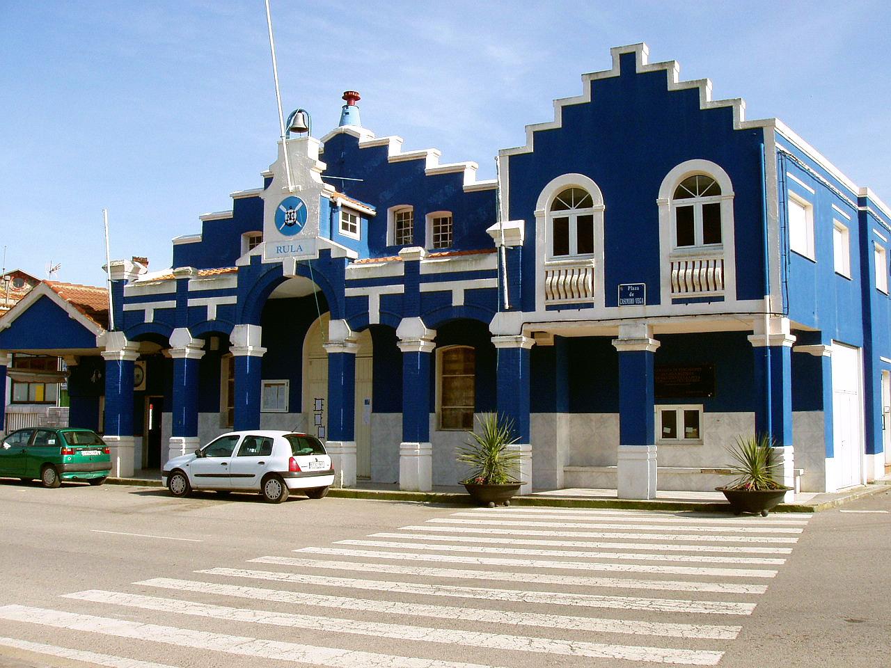 Foto playa El Garruncho. Edificio de la Rula, La Arena, Asturias