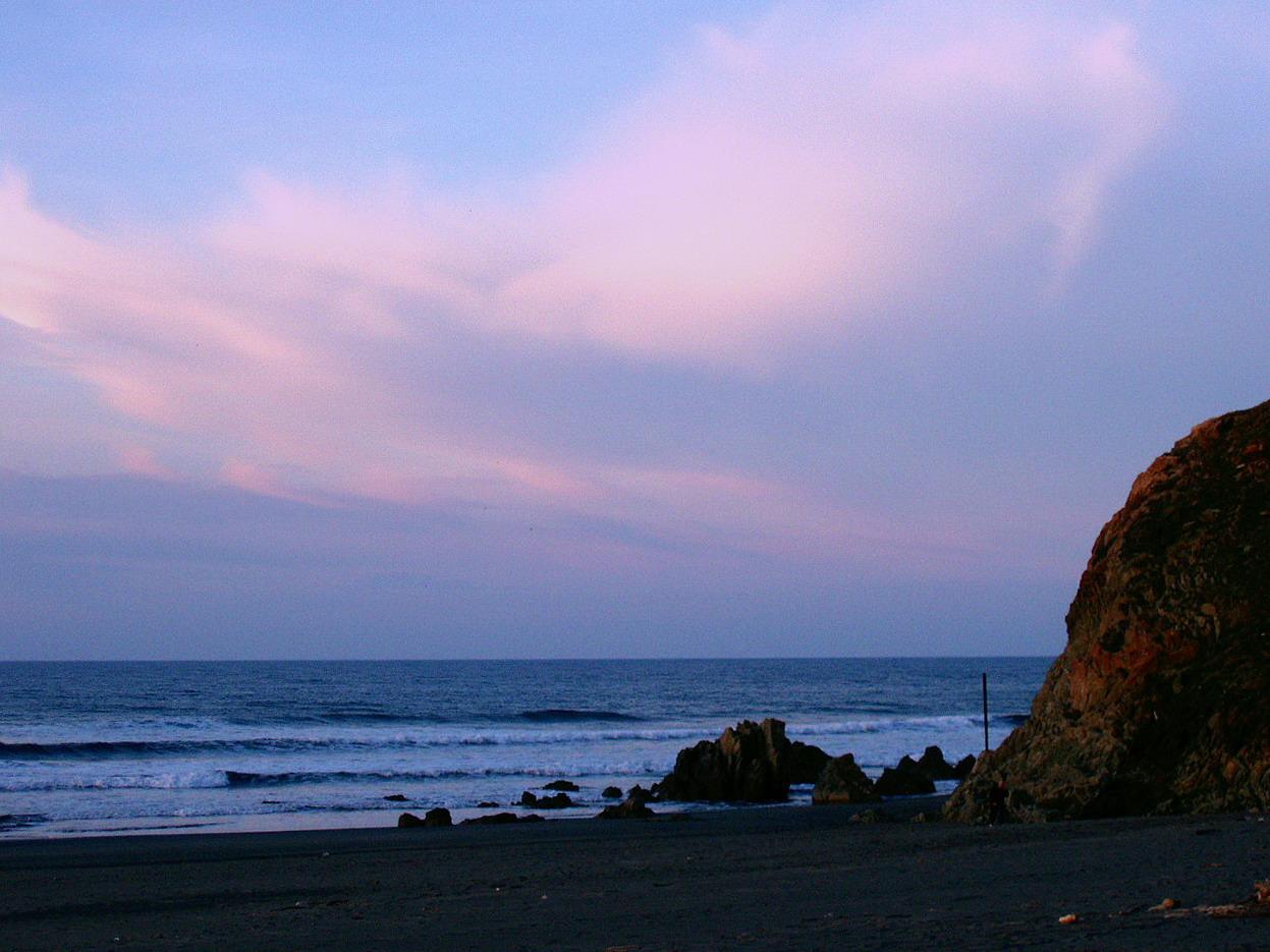 Foto playa Los Quebrantos. Atardecer, La Arena, Asturias