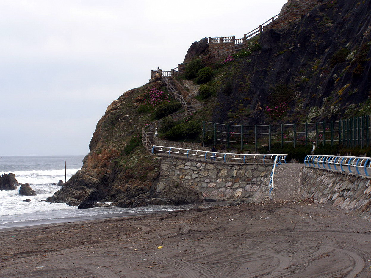 Foto playa Requexinos. Mirador del Espiritu Santo, Playa de los Quebrantos,  La Arena, Asturias