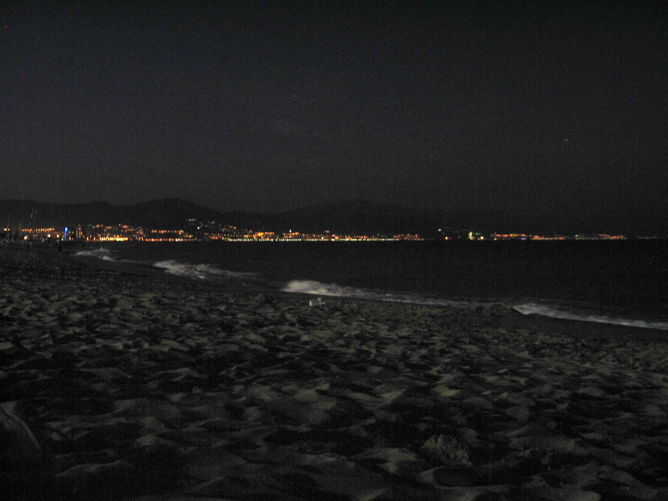 Foto playa Playa del Campo de Golf / Campo de Golf San Julián. Nocturno. Bahia de Málaga