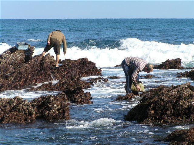 Foto playa Viodo. Asturias: pescando en el Cabo de Peñas