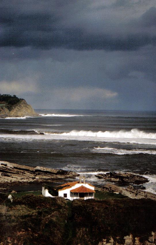Foto playa San Pedro de Antromero. Ermita de Isla del Carmen