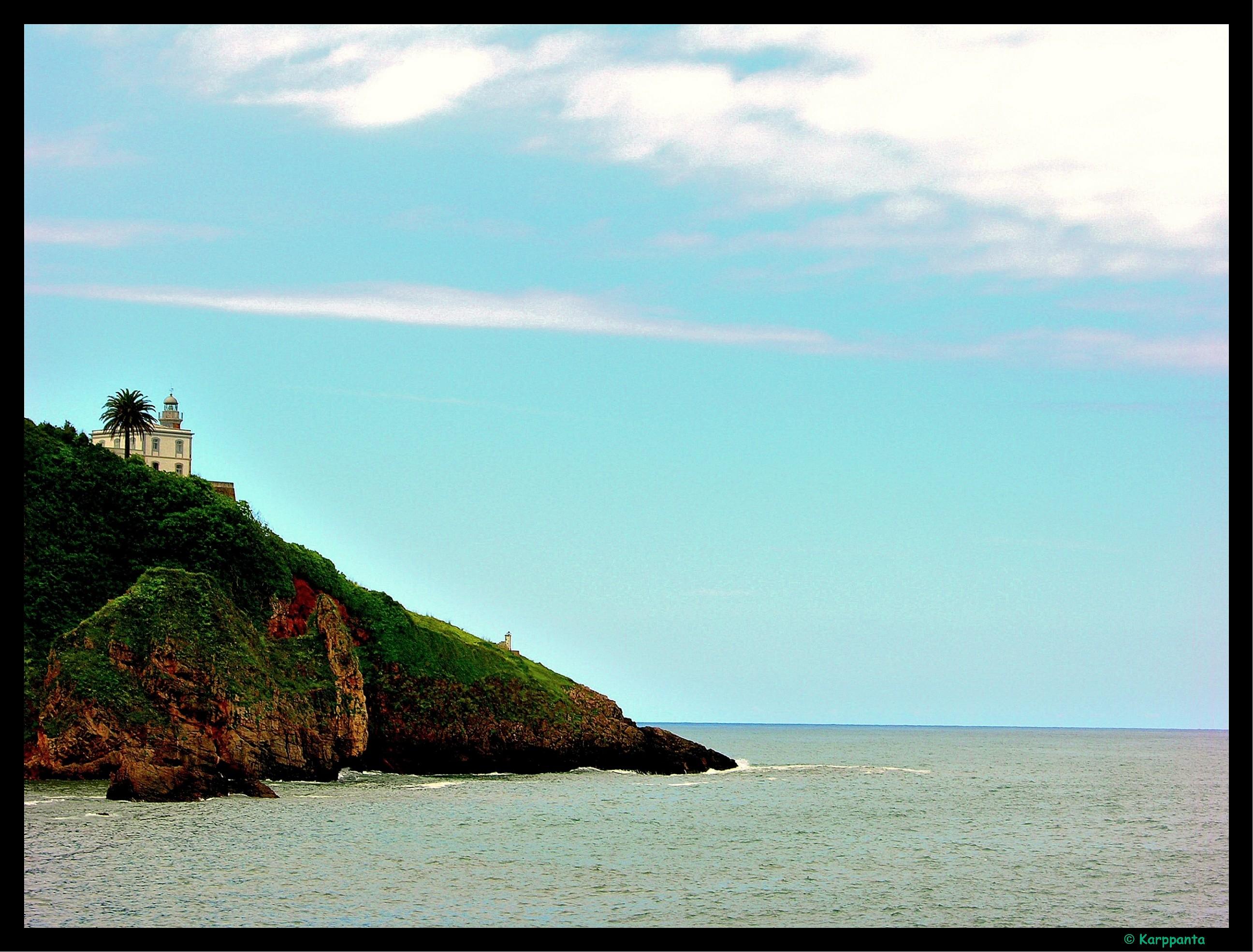 Foto playa Candás / La Pregona. Faro de Candás