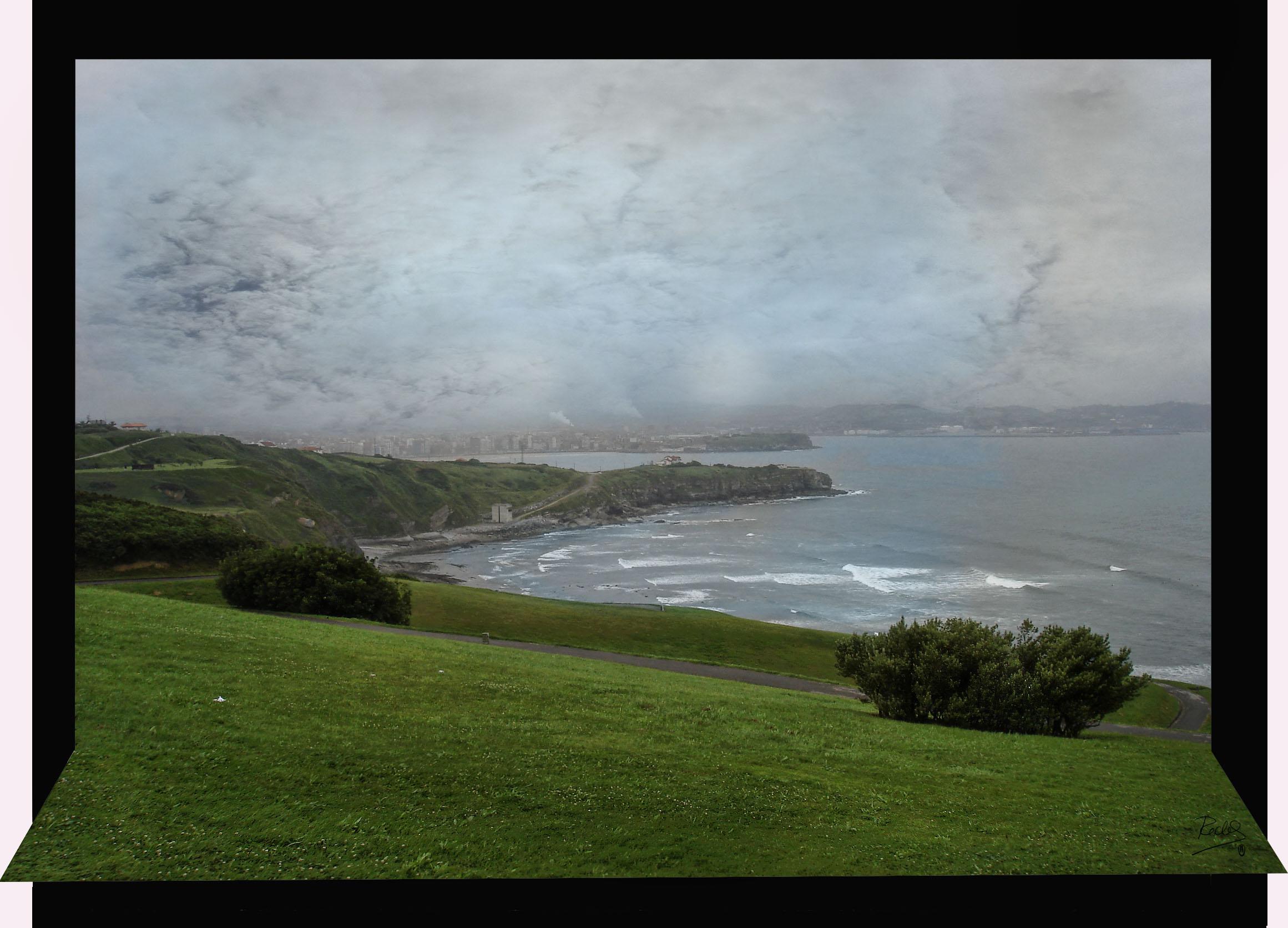 Foto playa Cagonera y Serín. Mirador parque de  La Providencia , Gijon