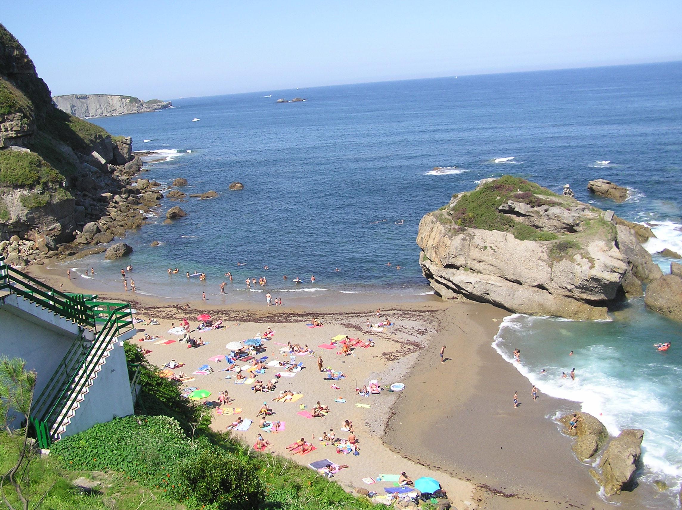 Foto playa La Ñora. Playa de Estaño (Gijón)
