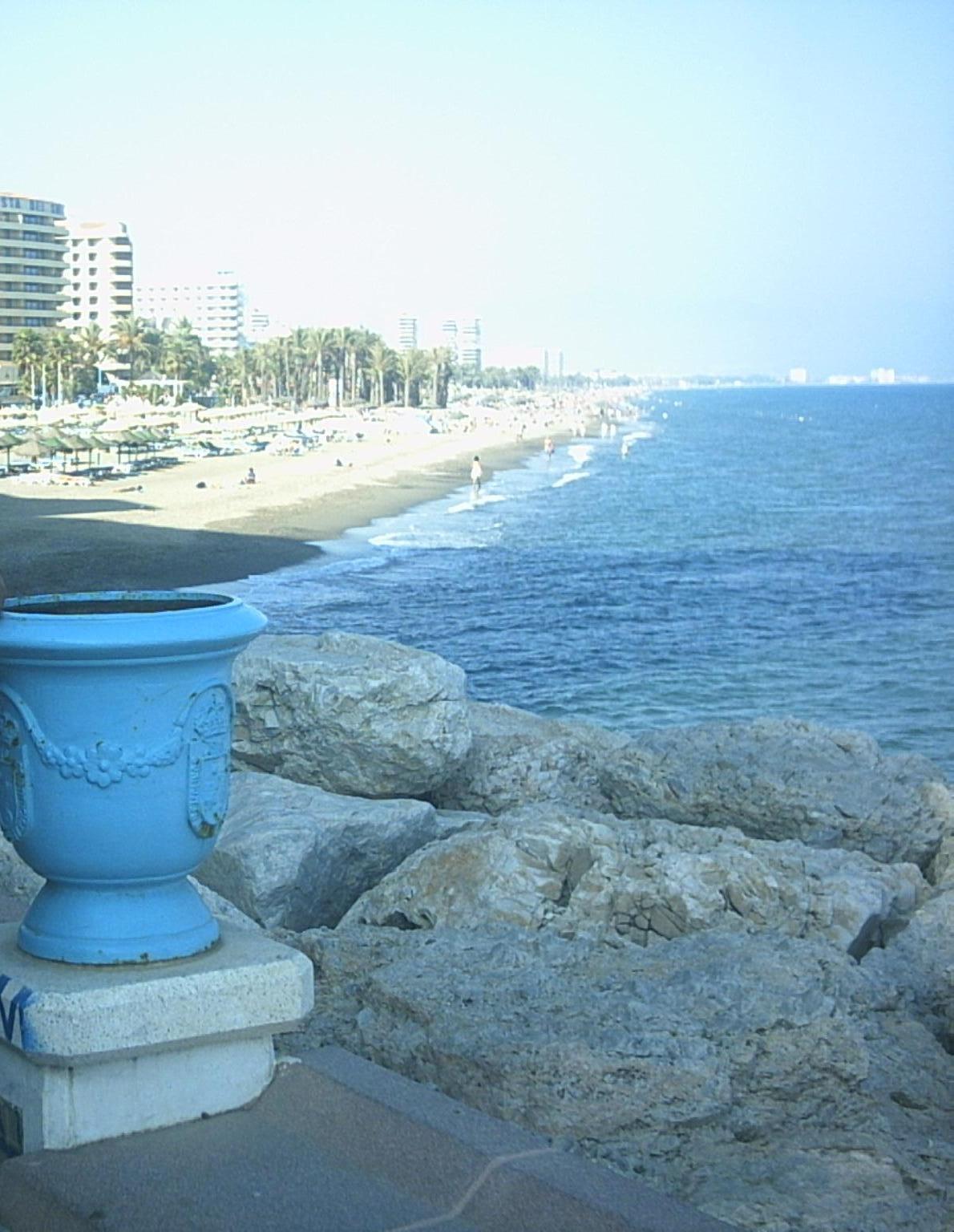 Foto playa El Bajondillo. TORREMOLINOS