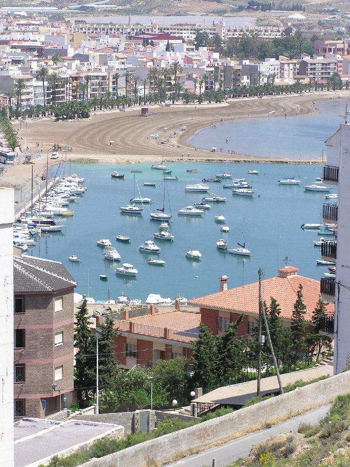 Foto playa La Isla. Puerto de Mazarron
