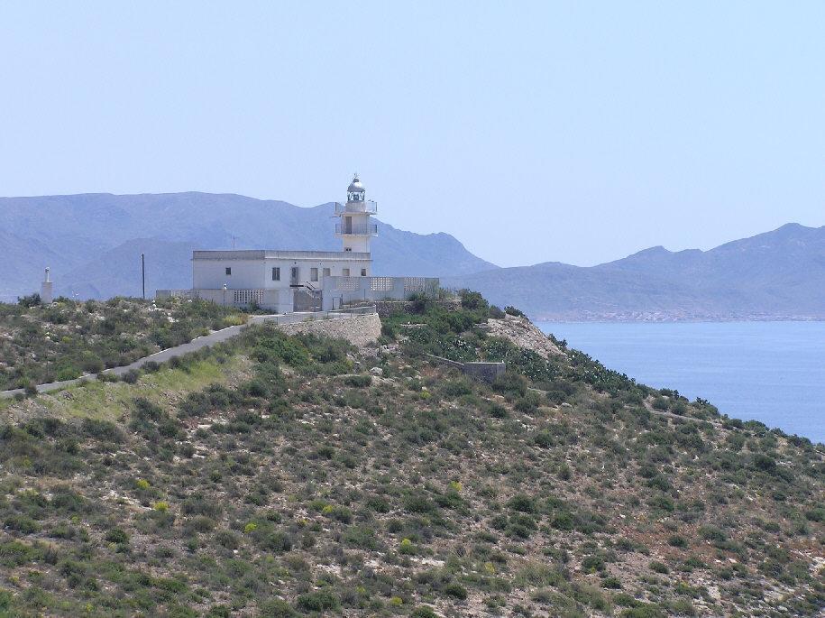 Foto playa La Isla. Faro de Puerto de Mazarron