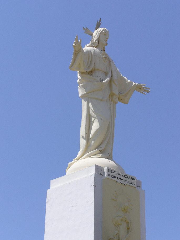 Foto playa La Isla. Monument of Jesus
