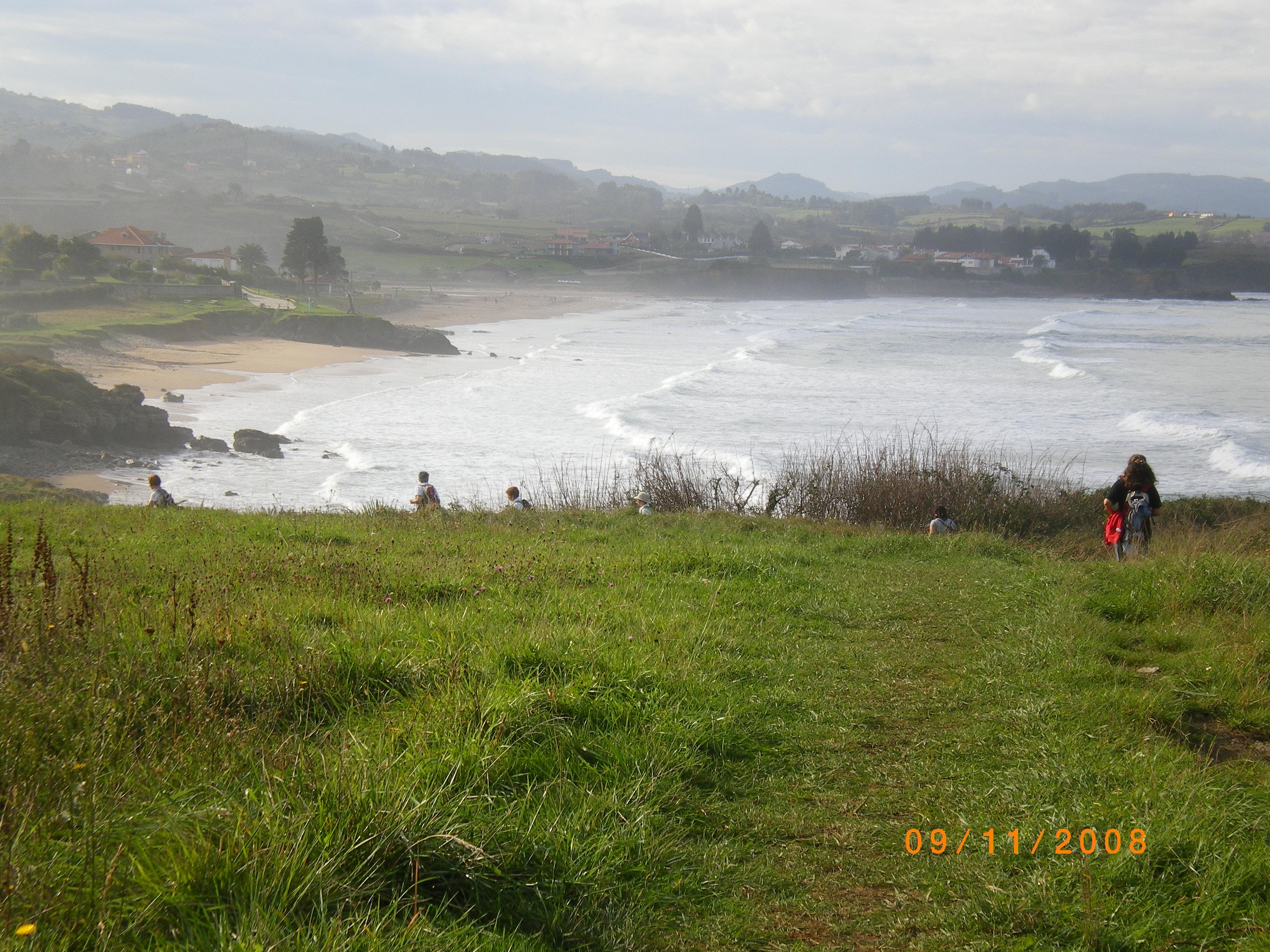 Foto playa El Viso / Arenal de Moracey. Camino de Santiago por la playa de la Espasa Asturias