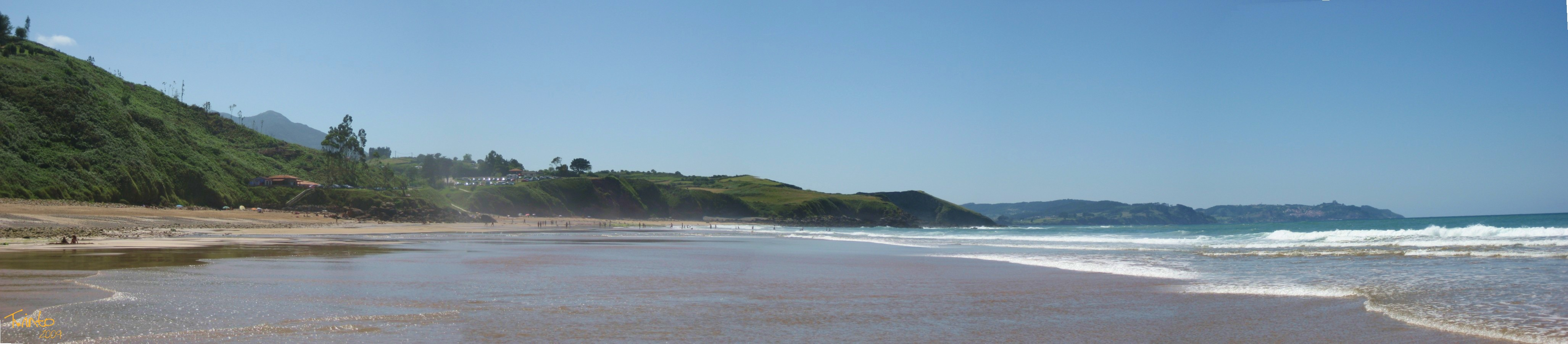 Foto playa Beciella / Barciella. Arenal de Moris.