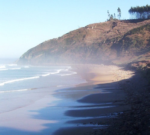 Foto playa Beciella / Barciella. Caravia vista playa Moris