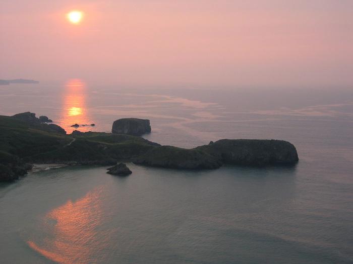 Foto playa Torimbia. Ocaso en Torimbia
